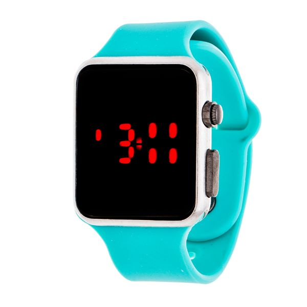Men's Sport Digital with Rubber Strap Watch-Turquoise-Daily Steals