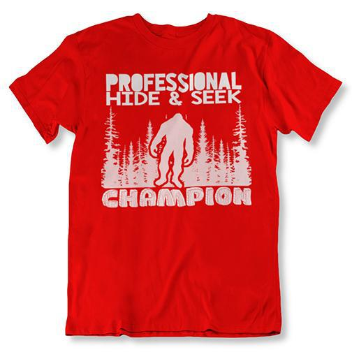 update alt-text with template Daily Steals-Professional Hide and Seek Champion Sasquatch Bigfoot Tshirt-Men's Apparel-Red-2XL-