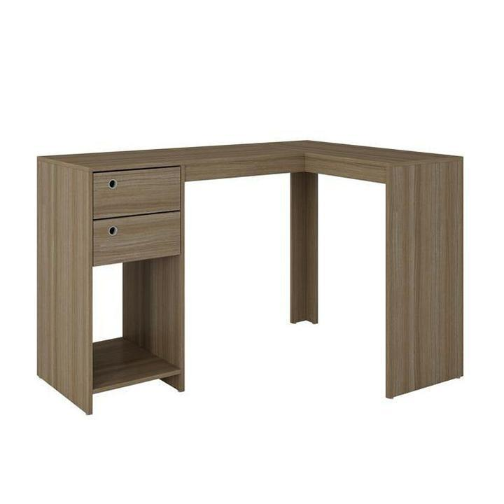 Daily Steals-Palermo Classic L Desk - Oak-Home and Office Essentials-