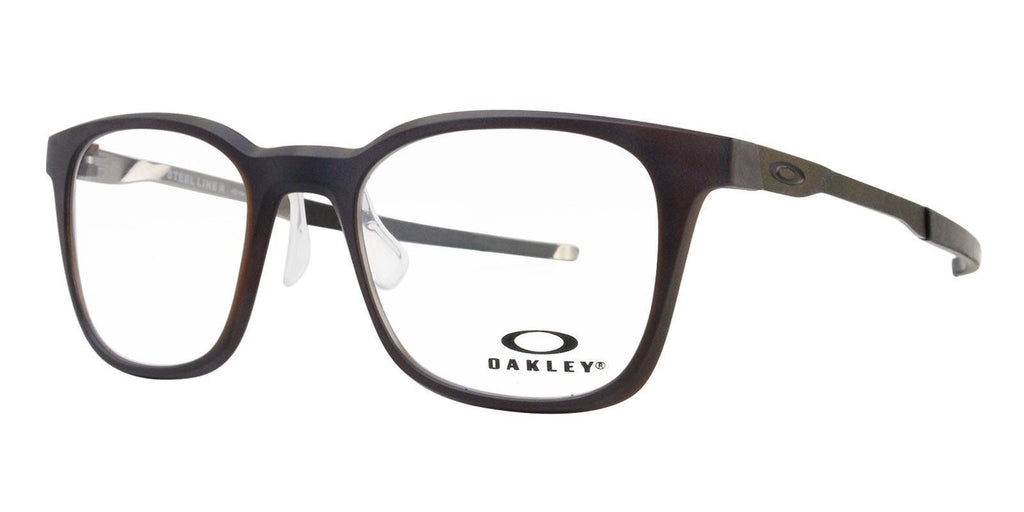 Daily Steals-Oakley Steel Line R Matte Dark Amber Eyeglasses 49mm w/ Cloth Bag-Accessories-