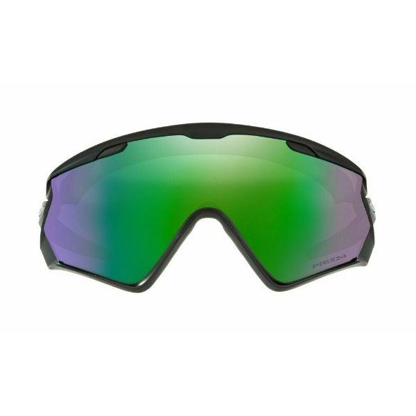 Daily Steals-Oakley Sunglasses OO7072-01 Wind Jacket 2.0 Matte Black Prizm Snow Jade Iridium-Sunglasses-