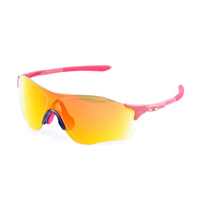 Daily Steals-Oakley Unisex Sport Sunglasses - Red Frame Yellow Mirrored Lens-Accessories-