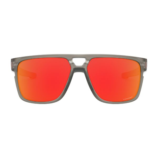 Pair of Oakley Crossrange Patch Sunglasses Matte Grey Prizm Ruby 9391-0360 Asian Fit-Daily Steals