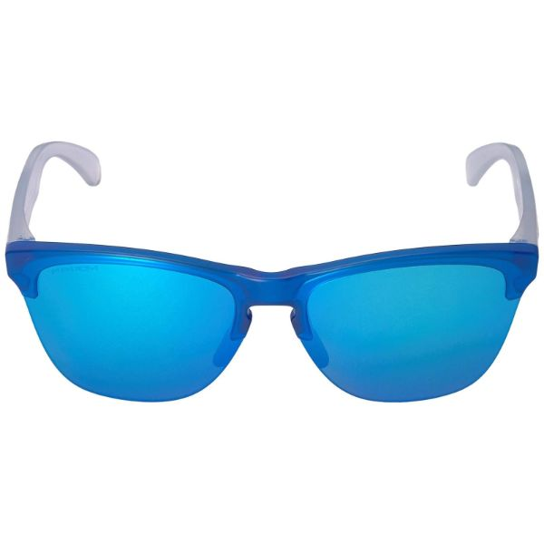 Oakley Frogskins Light Grips 9374-07 Sunglasses Translucent Prizm Sapphire-Daily Steals