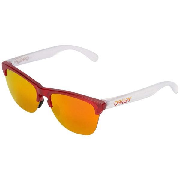 Oakley Frogskins Light Grips OO9374-06 Lunettes De Soleil Translucides Prizm Ruby-Daily Steals