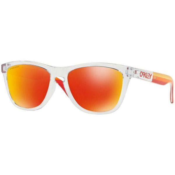 Oakley Frogskins Sunglasses OO9245-7354 Polished Clear Prizm Ruby Lens-Daily Steals