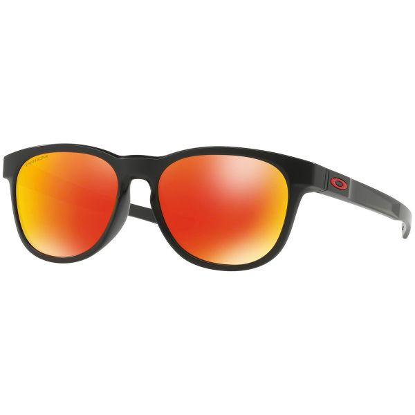 Oakley Stringer Sunglasses Matte Black Frame PRIZM Ruby Lens OO9315-1655-Daily Steals