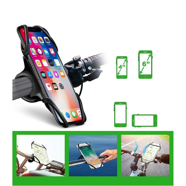 Okra Silicone Phone Mount for Bicycle & Motorcycle-Daily Steals