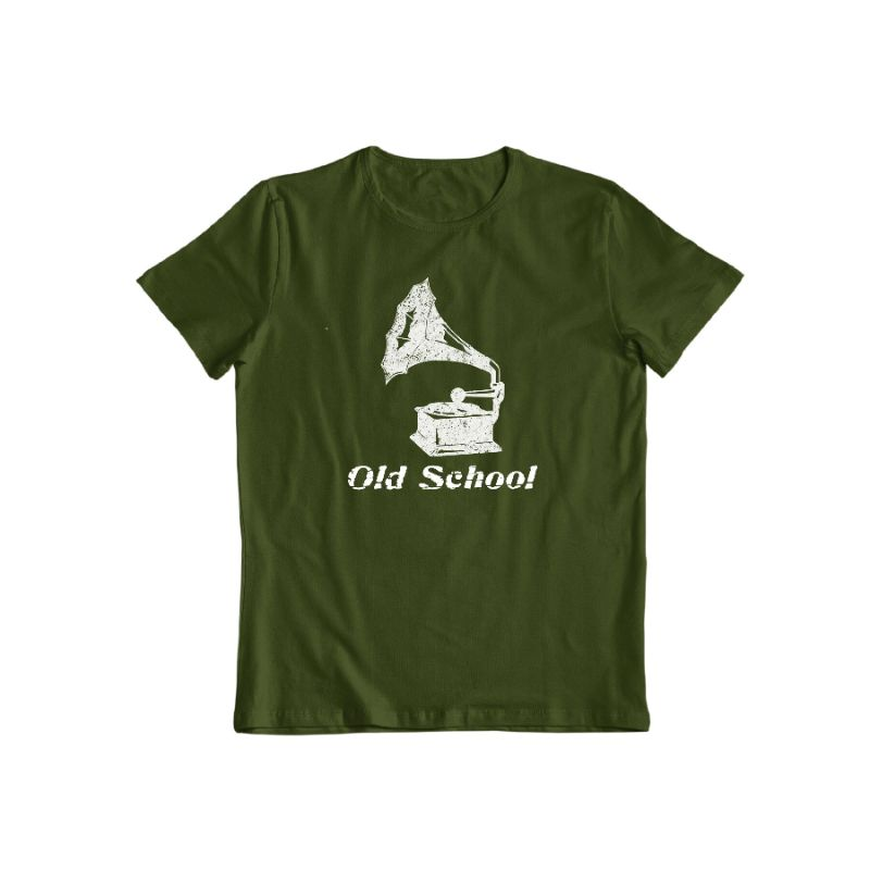 """Old School"" T-Shirt-Forest Green-S-Daily Steals"