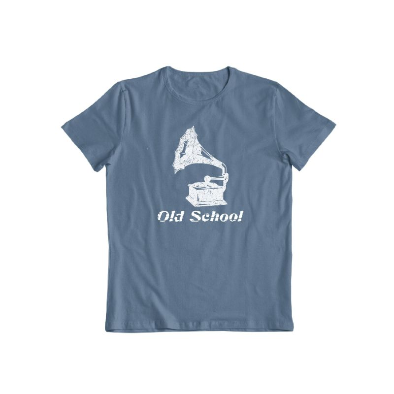 """Old School"" T-Shirt-Indigo Blue-S-Daily Steals"