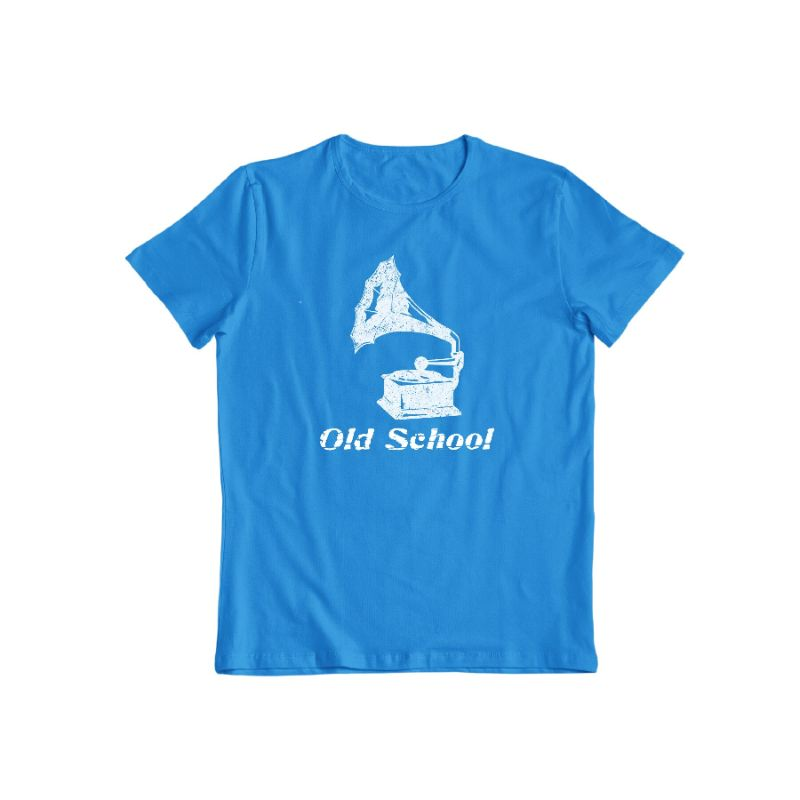 """Old School"" T-Shirt-Sapphire-S-Daily Steals"