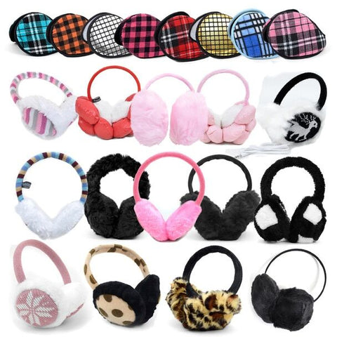 Daily Steals-3 Pack Assorted Winter Ear Muffs-Accessories-