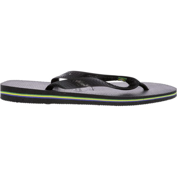 Havaianas Brazil Black Rubber Sandal-Daily Steals