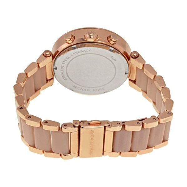 Michael Kors Parker Blush Rose Gold with Swarovski Crystal Bezel Women's Watch-Daily Steals