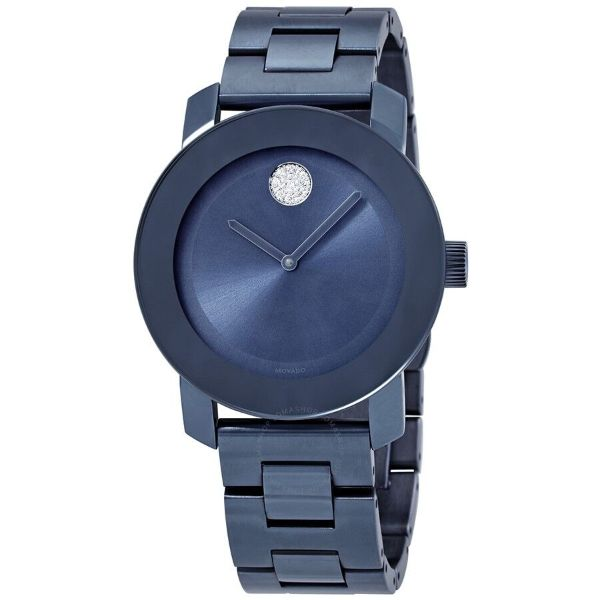 Movado Bold Light Blue Dial Ladies Watch 3600494-Daily Steals
