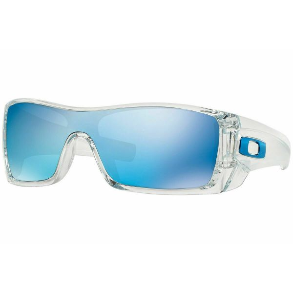 Oakley Batwolf OO9101-0727 Sunglasses Polished Clear Ice Iridium Lens-Daily Steals
