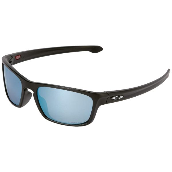 Oakley Silver Stealth OO9408-07-56 Sunglasses Matte Black Deep Water Polarized-Daily Steals