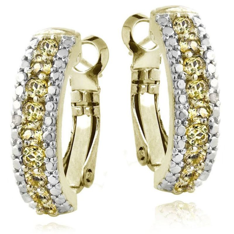 5.00 CTTW Ruby Lining Earrings Plated in 18K White Gold-Yellow-Daily Steals