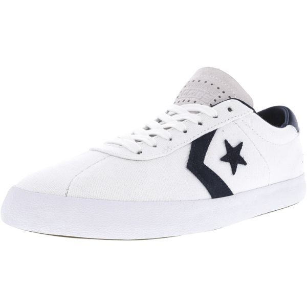 Converse Breakpoint Pro Ox White / Obsidian Ankle-High Canvas Sneakers-11.5W/10M-Daily Steals
