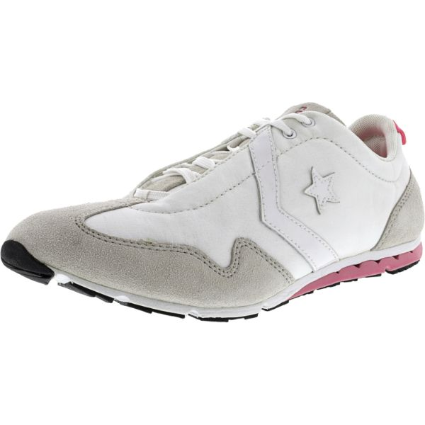Converse Women's Revival Ox White / Pink Ankle-High Fabric Running Shoes-10M-Daily Steals