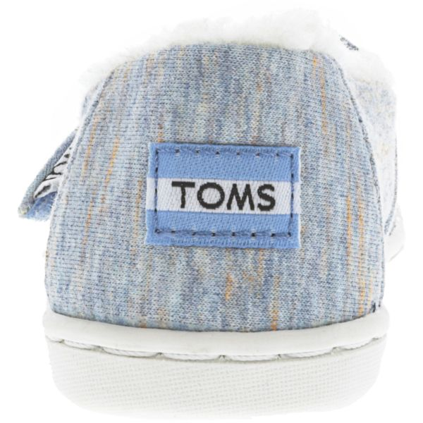 Toms Girl's Classic Heather Jersey And Faux Shearling Alaskan Blue Ankle-High Fabric Fashion Sneakers-Daily Steals