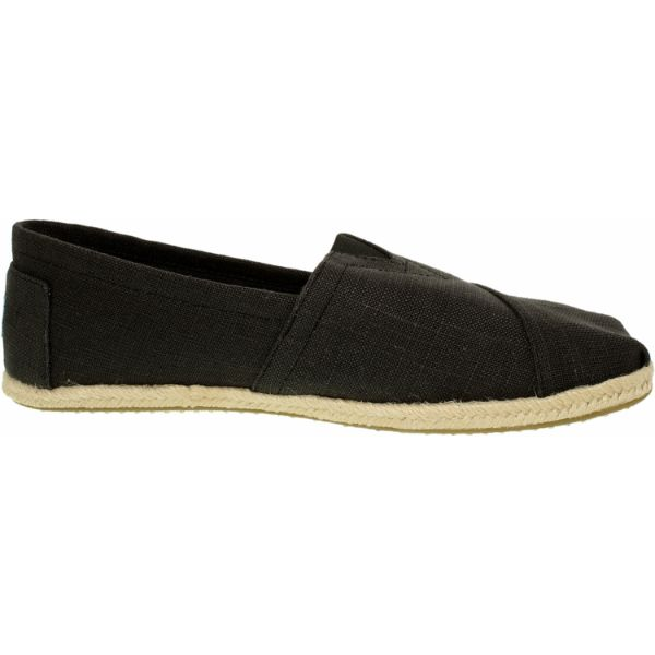 Toms Men's Alpargata Linen Black Ankle-High Fabric Flat Shoes-Daily Steals