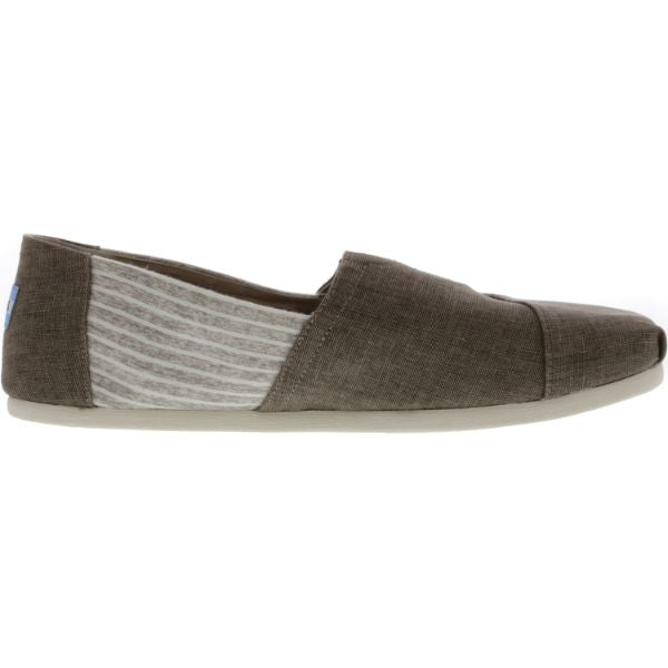 Toms Men's Classic Coated Linen Toffee Stripe Canvas Slip-On Shoes-Daily Steals