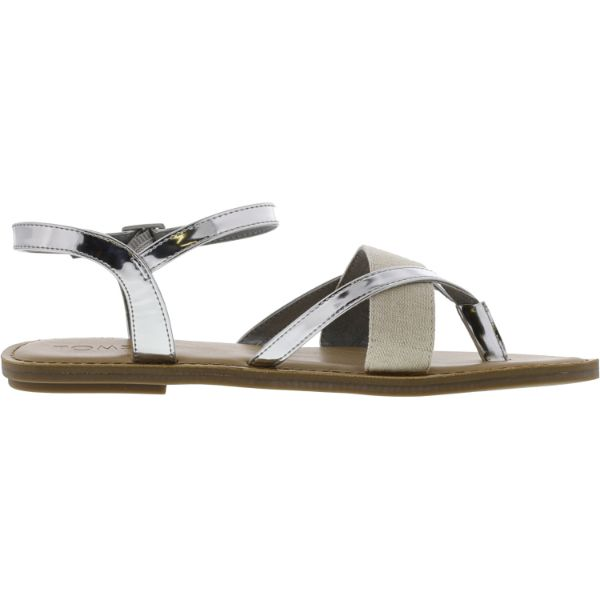 Toms Women's Lexie Specchio And Hemp Silver Sandals-Daily Steals
