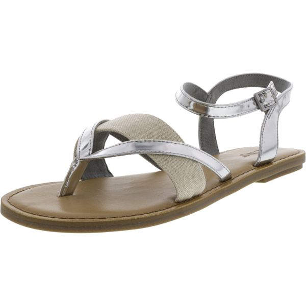 Toms Women's Lexie Specchio And Hemp Silver Sandals-4-Daily Steals