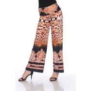 Women's Printed Palazzo Pants - Hot Mustard Yellow-Daily Steals