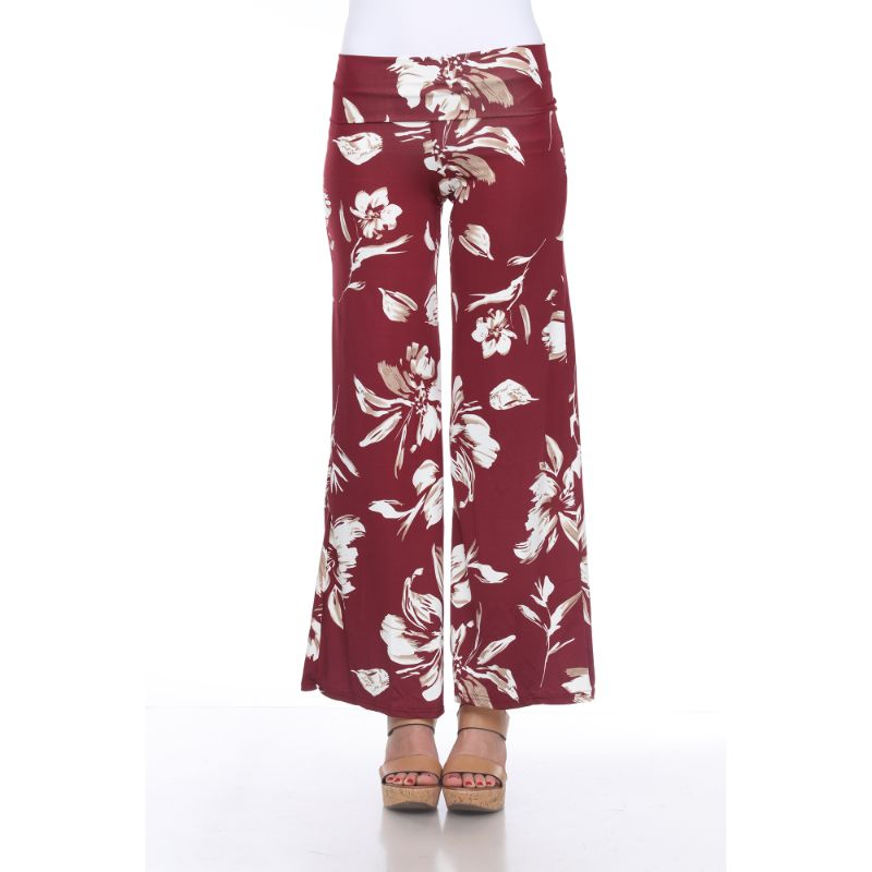Women's Printed Palazzo Pants - Bang Red-S-Daily Steals