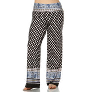 Women's Printed Palazzo Pants - Black and White-XL-Daily Steals