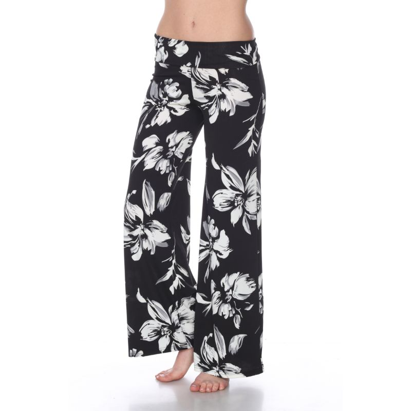 Women's Printed Palazzo Pants - Cool Black-Daily Steals