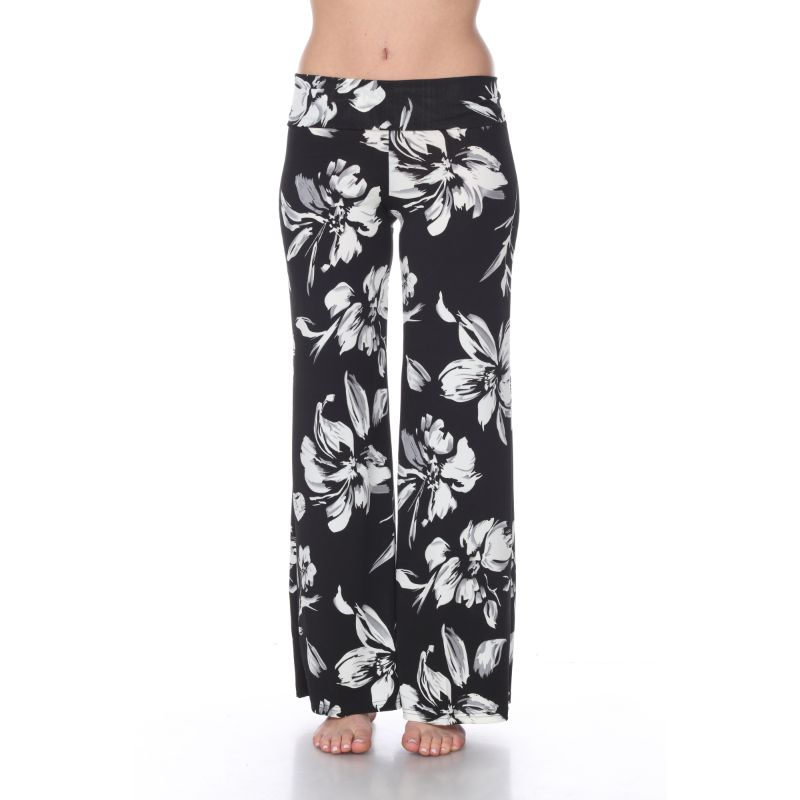 Women's Printed Palazzo Pants - Cool Black-S-Daily Steals