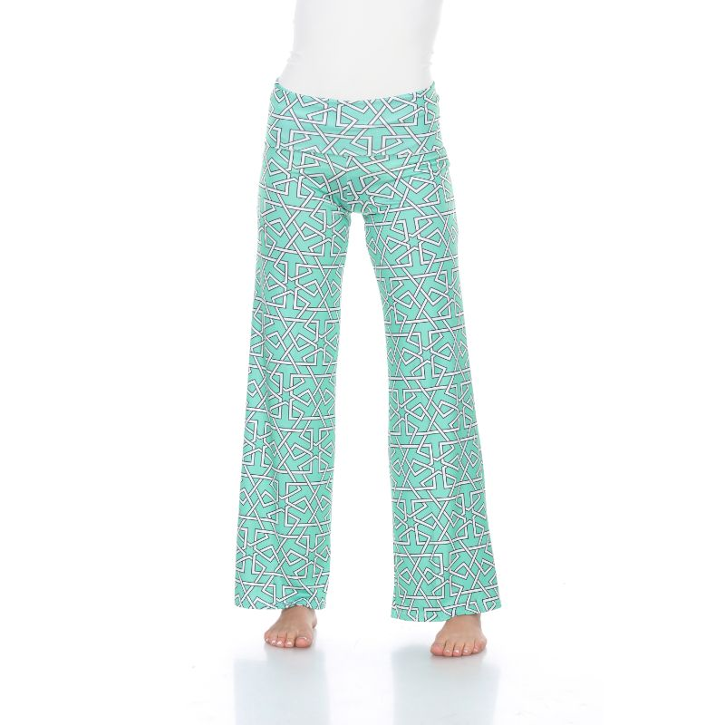 Women's Printed Palazzo Pants - Grassy Green-S-Daily Steals