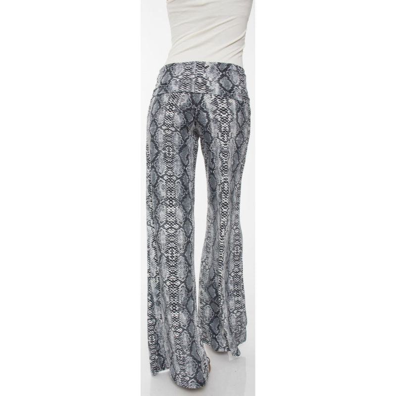 Women's Printed Palazzo Pants - Gray Snake-Daily Steals
