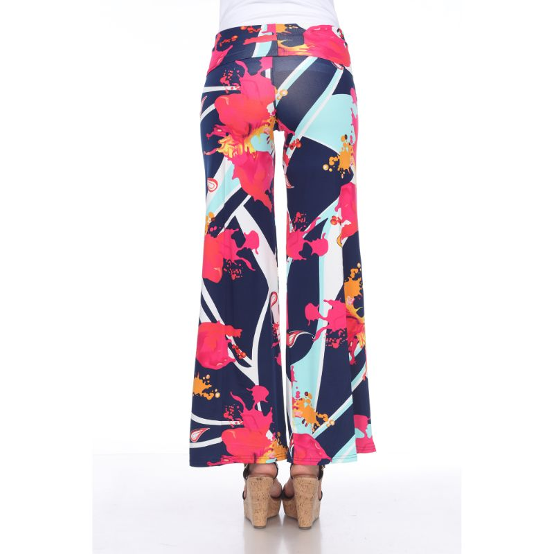 Women's Printed Palazzo Pants - Mermaid Teal & Pink-Daily Steals
