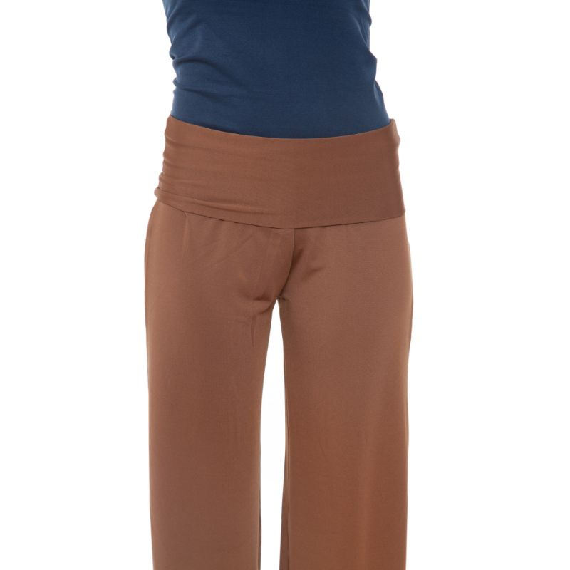 Women's Printed Palazzo Pants - Natural Brown-Daily Steals