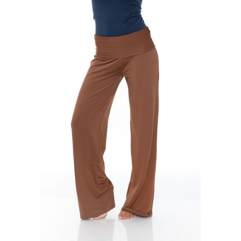 Women's Printed Palazzo Pants - Natural Brown-S-Daily Steals