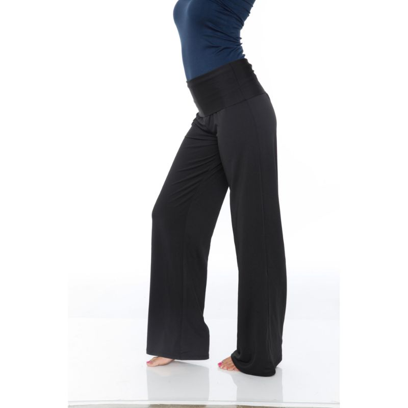 Women's Printed Palazzo Pants - Pitch Black-Daily Steals