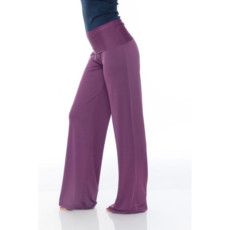 Women's Printed Palazzo Pants - Royal Purple-Daily Steals