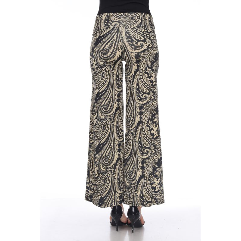Women's Printed Palazzo Pants - Woodsy Brown-Daily Steals