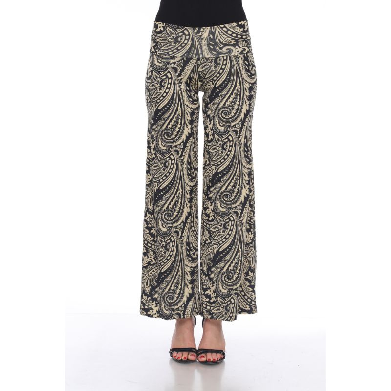 Women's Printed Palazzo Pants - Woodsy Brown-S-Daily Steals