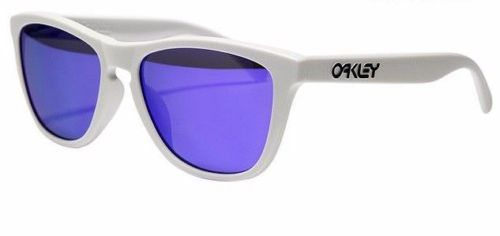 Oakley Sunglasses Frogskins Matte White w/Violet Irid-Daily Steals