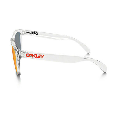 Oakley Sunglasses - Frogskin Men's Clear Frame Yellow Lens-Daily Steals