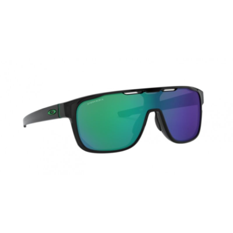 Oakley Crossrange Shield Sunglasses Black Prizm Jade Iridium OO9387-1231-Daily Steals