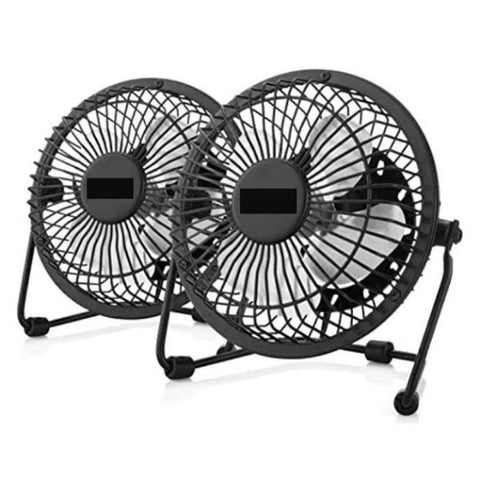 Opolar Mini USB Table Desk Personal Fan - 2 Pack-