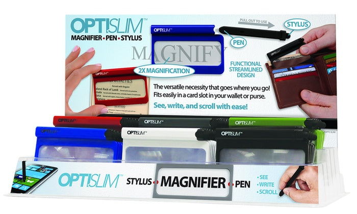 [Buy One Get One Free] Opti-Slim Wallet Magnifier with Functional Streamlined Design-Daily Steals