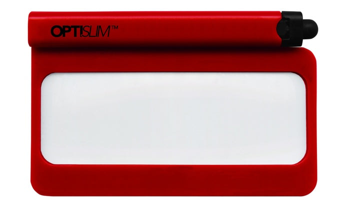 [Buy One Get One Free] Opti-Slim Wallet Magnifier with Functional Streamlined Design-Red-Daily Steals