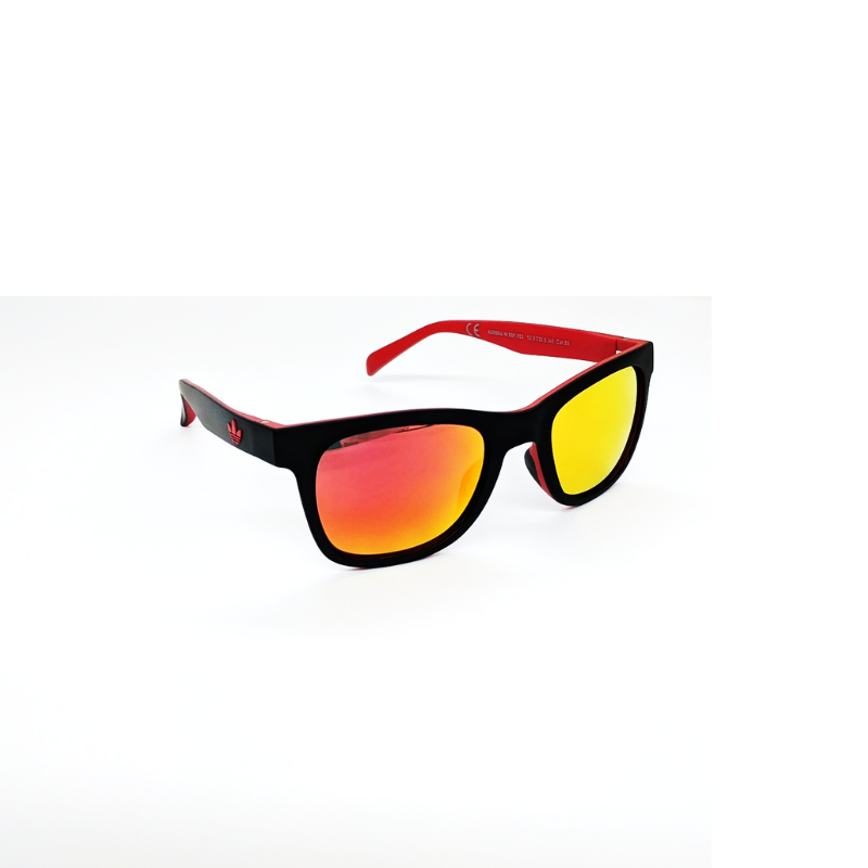 ADIDAS WAYFARER 004/N 009.027 BLACK RED MIRRORED.-Daily Steals